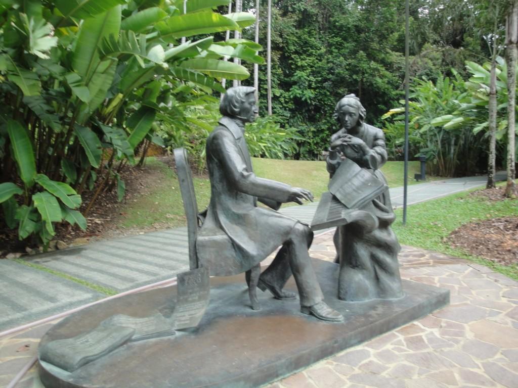 Ботанический Сад, Скульптурная композиция Шопен