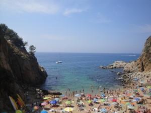 Пляж в Тосса де Мар