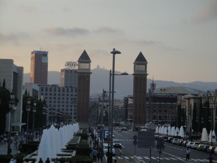 Барселона. Вид с горы Монжуик
