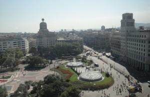 Вид на площадь Каталонии