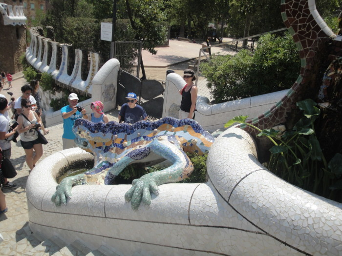 Парк Гуэля саламандра.