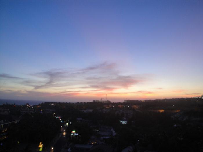 Закат в Муйне вид из отеля