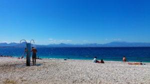 Пляж в Лутраки