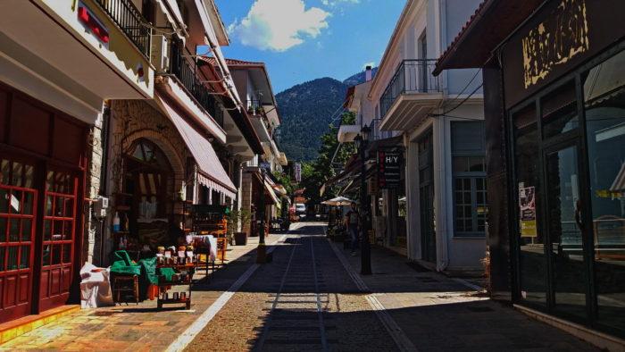 Улицы города Калаврита
