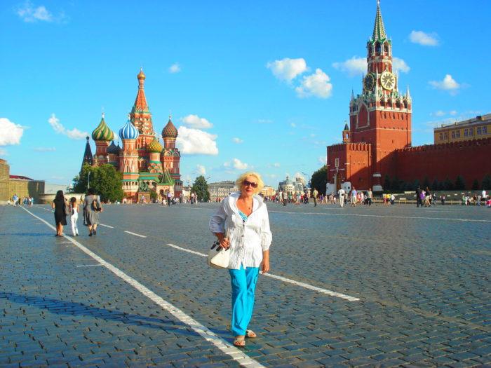 На Красной Площади в Москве