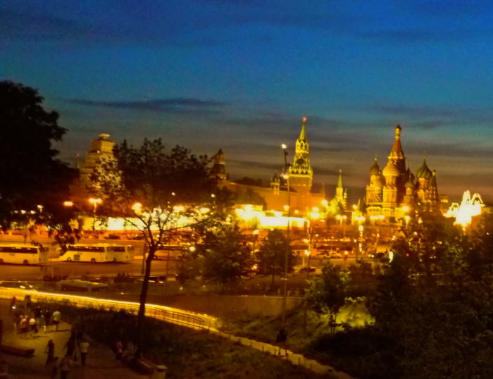 Вид на Кремль из Зарядья