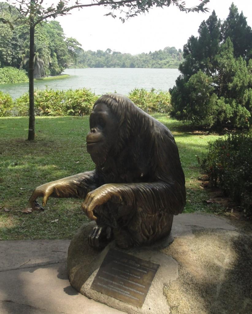 памятник обезъяне, Сингапур