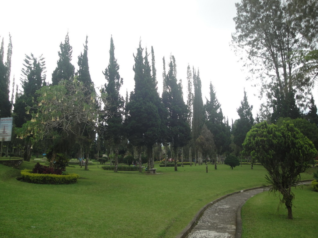 В парке у озера Бератан