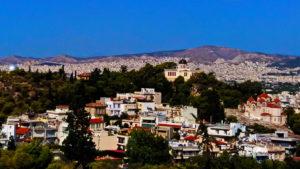 Афины с холма Ареса
