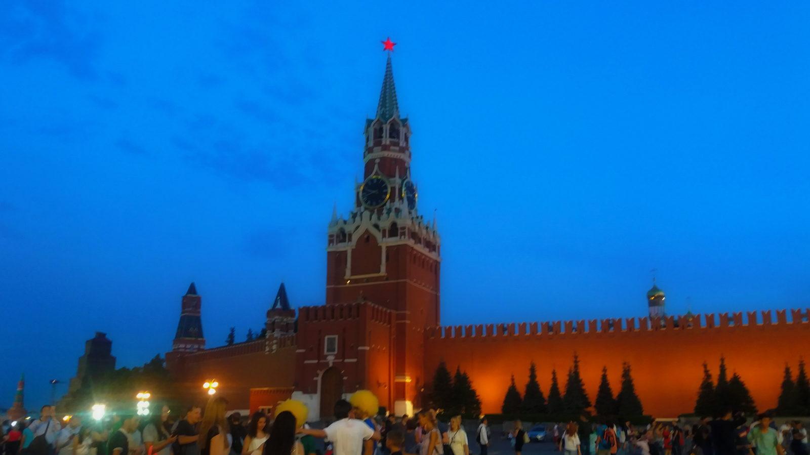 Москва Кремль Спасская башня