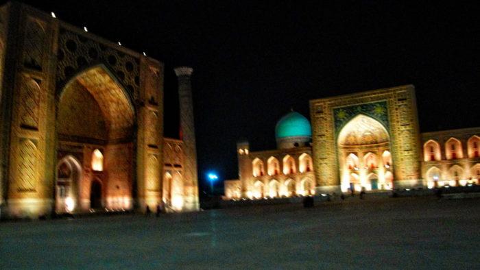 Регистан ночью